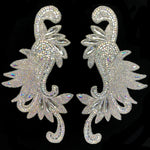 Gel-Back Rhinestone Appliques, Colored Iron-on Crystal Rhinestone Patches by the Pair, IRA-107