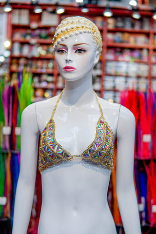 Chained Stone Bra Top, XY2550
