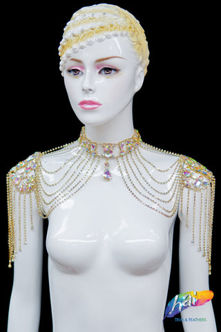 Crystal Rhinestone Shoulder Jewelry, RD-096