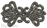 Beaded Rhinestone Applique, Wedding Formal Prom Crystal Patch, RA-019
