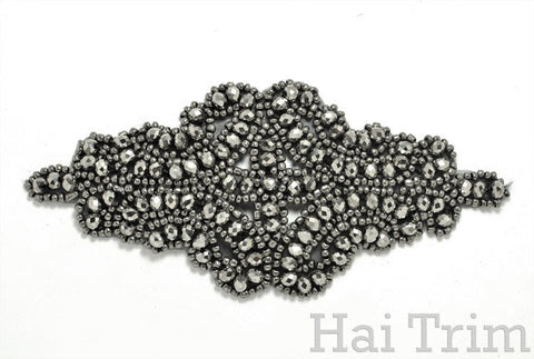 Beaded Applique, Performance Headpiece Motif, BA-002