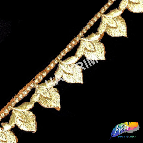 "1"" Metallic Embroidered Trim, EMB-15"