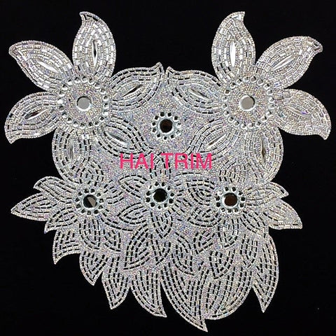 Gel-Back Rhinestone Appliques, Colored Iron-on Crystal Rhinestone Patches, IRA-001