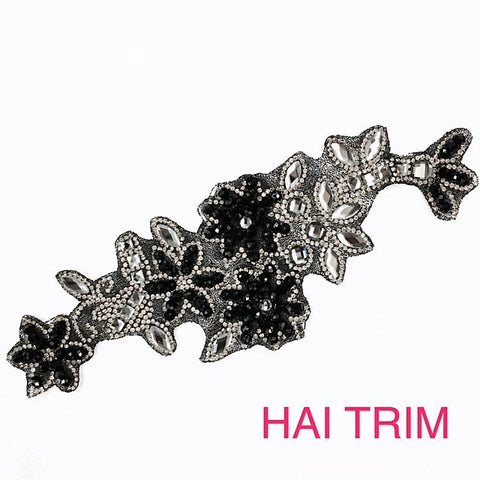 Gel-Back Rhinestone Appliques, Colored Iron-on Crystal Rhinestone Patches, IRA-040