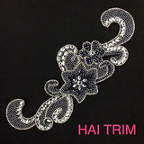 Gel-Back Rhinestone Appliques, Colored Iron-on Crystal Rhinestone Patches, IRA-043
