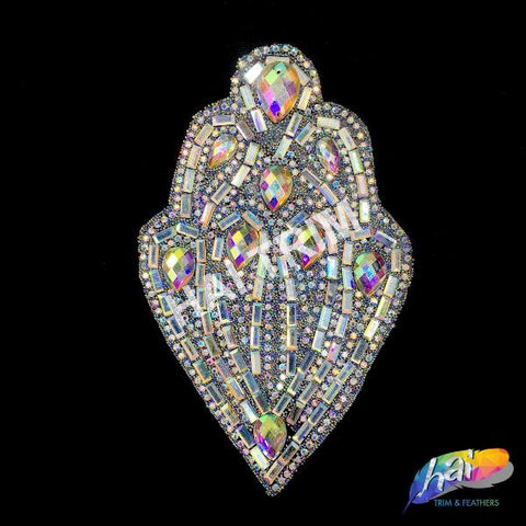 Gel-Back Rhinestone Appliques, Colored Iron-on Crystal Rhinestone Patches, IRA-086