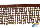 "2 1/2"" and 4"" Round Beaded Fringe, FR-005"