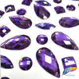 Purple Resin Stones, DD78