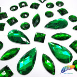 Kelly Green Resin Stones, DD21