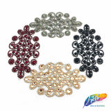 Gel-Back Rhinestone Appliques, Colored Iron-on Crystal Rhinestone Patches, IRA-051