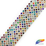 "SALE! 1 1/4"" Multicolor Crystal Rhinestone & Pearl Iron on Trim, IRT-037"