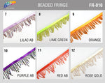 "2"" Variegated Beaded Fringe with Bugle & Seed Beads, FR-010"