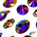 Metallic AB Resin Stones Color A