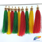 "3 1/4"" Silk Tassels with Gold Cap, TSL-01"