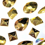 Metallic Gold Resin Stones