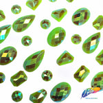 Matte Lime Green AB Resin Stones, SSAB08