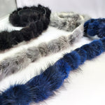 "1"" Mink Fur Ball Trim on Felt, FT-02"