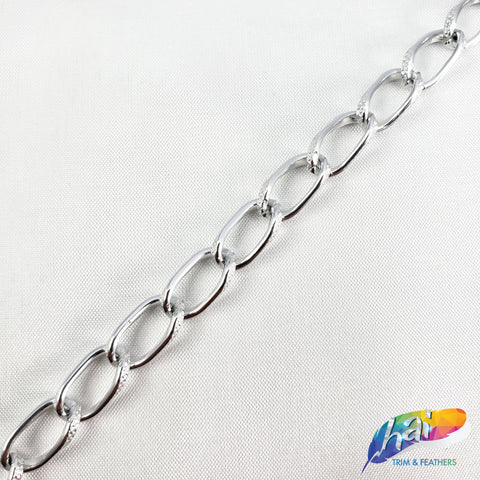 "1/4"" Curved Oval Metallic Cable Chain, CH-113"