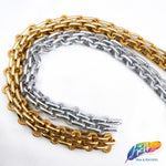 "3/4"" Multilayer Braided Metallic Cable Chain, CH-115"