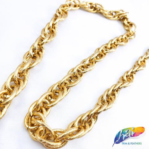"3/8"" Multilayer Braided Oval Cable Chain, CH-119"
