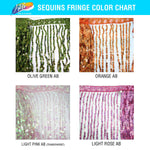 "Color AB Sequins Fringe (6"" 12"" 16"")"
