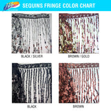 "Color Sequins Fringe (6"" 12"" 16"")"