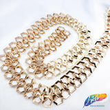 "7/8"" Gold Infinity Cube-Shaped Chain, CH-117"