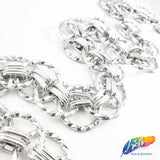 "1 1/8"" Silver Metallic Overlapping Cable Chain, CH-121"