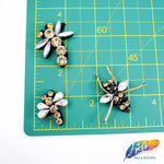 Beaded Rhinestone Insect Appliques (2 pieces)