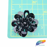 Beaded Sequins Flower Patch Applique, Embroidery Patches Perfect for Hats, Clothes, Jackets, Accessories, Crafts, DIY, BA-069, BA-070