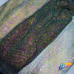 "36"" x 50"" Multicolored Rhinestone Mesh Fabric with Vitrail Medium Stones"