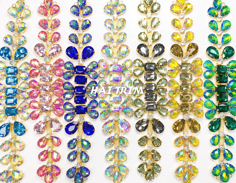 SALE! Color Resin Stone Fancy Rhinestone Applique, YH-111