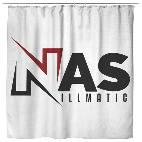 Nas White Shower Curtain