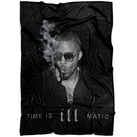 Time Is Ill Matic Fleece Blanket