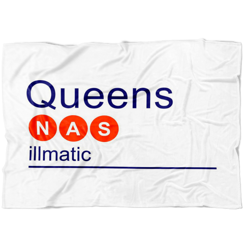 NAS Orange/Blue Fleece Blanket