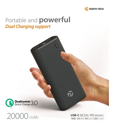 Batería De Respaldo Power Bank 20000mah North Tech