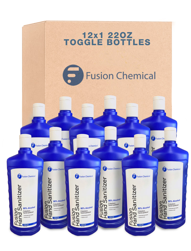 Toggle Bottle Case Hand Sanitizer 50% OFF Closeout! Case of 12—22oz Bottles Per Case