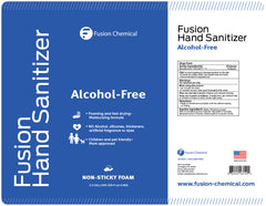 Fusion Foaming Alcohol Free Hand Sanitizer—4 Gallon Case + FREE Pump