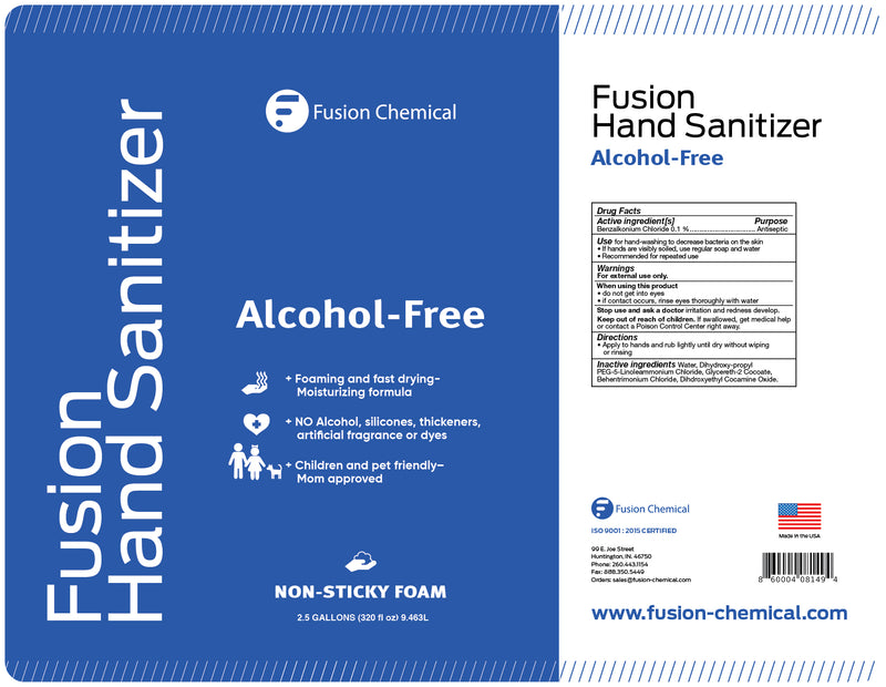 Fusion Foaming Alcohol Free Hand Sanitizer—1 gallon