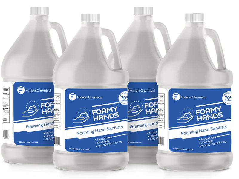 Fusion Foamy Hand Antiseptic—4 Gallon Case + FREE Pump