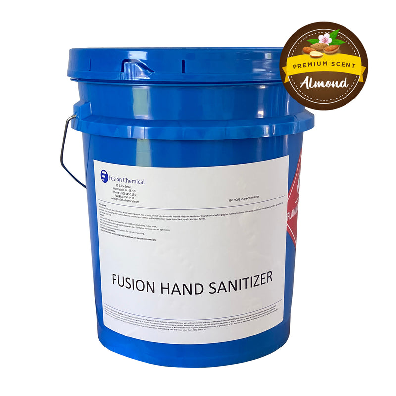Fusion Gel ALMOND SCENTED Hand Sanitizer—5 Gallon Pail