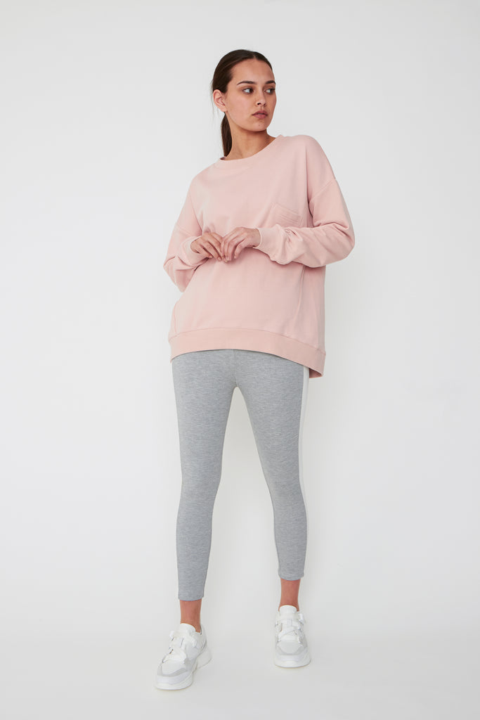 Pocket Crew Sweat - Blush