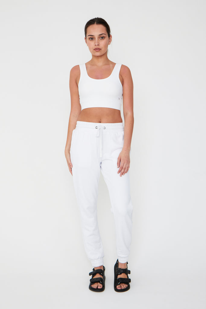 Sanctuary Track Pant - White