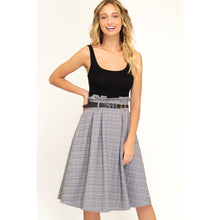 Load image into Gallery viewer, Paperbag waist plaid about you midi skirt