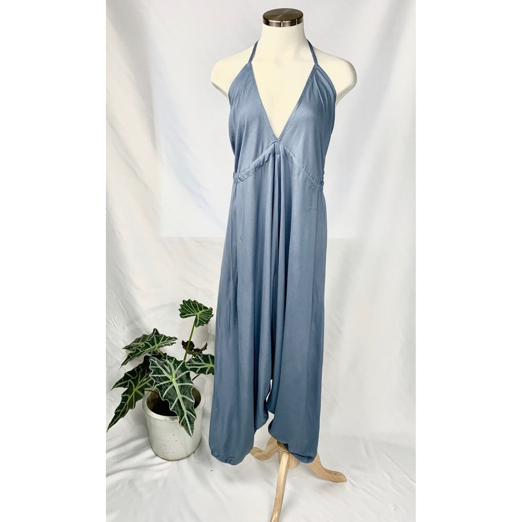 Rayon open back jumpsuit