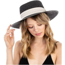 Load image into Gallery viewer, Braided flat brim hat