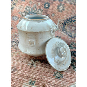 Shino glaze cover container w/ handles