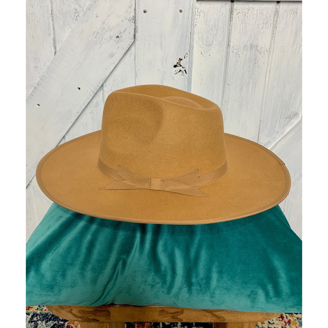 Cecile Tan Wool Fedora Hat