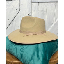 Load image into Gallery viewer, Jeanette Cool Buff Wool Fedora Hat