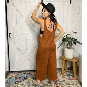 Shoulder Buckle Cullote Jumpsuit